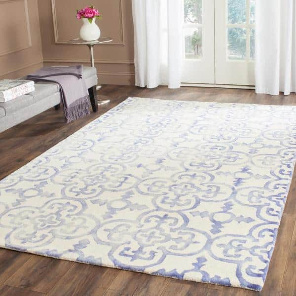 Safavieh Dip Dye Ivory Blue 5 Ft X 8 Ft Area Rug Ddy711a 5 The Home Depot