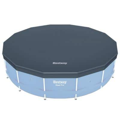 14 ft. Round PVC Pool Cover for Above Ground Pro Frame Pools