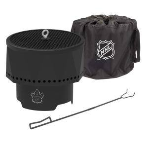 The Ridge NHL 15.7 in. x 12.5 in. Round Steel Wood Pellet Portable Fire Pit with Spark Screen, Poker Toronto Maple Leafs