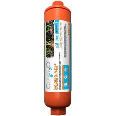 Garden and Pet Water Hose Filter - Reduces Chlorine, Lead, Heavy Metals - Ideal for Organic Farmers - (Orange)