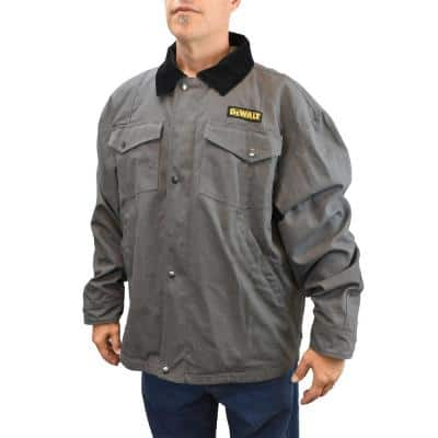 Men's 3X-Large 20-Volt MAX XR Lithium-Ion Charcoal Barn Coat Kit with 2.0 Ah Battery and Charger