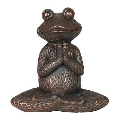 Meditating Yoga Frog Garden Statue