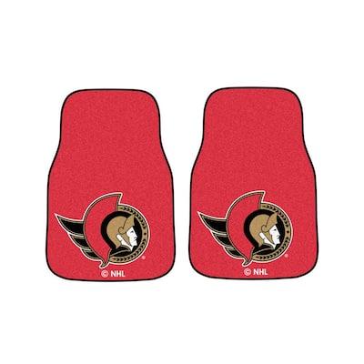 Ottawa Senators 18 in. x 27 in. 2-Piece Carpeted Car Mat Set