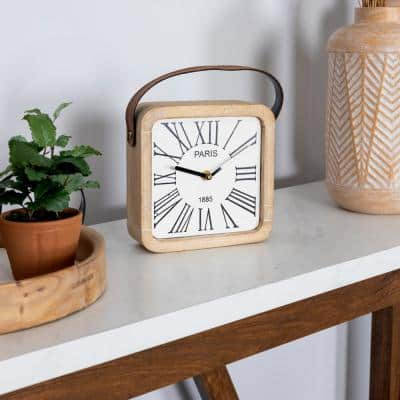 Farmhouse 9.5 in. Dean Table Clock
