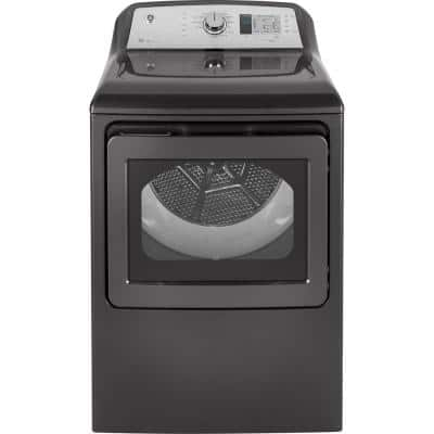 7.4 cu. ft. 120-Volt Diamond Gray Gas Vented Dryer, ENERGY STAR