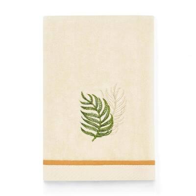 Palmiers Soft Beige 18 X 11 Cotton Fingertip Towel