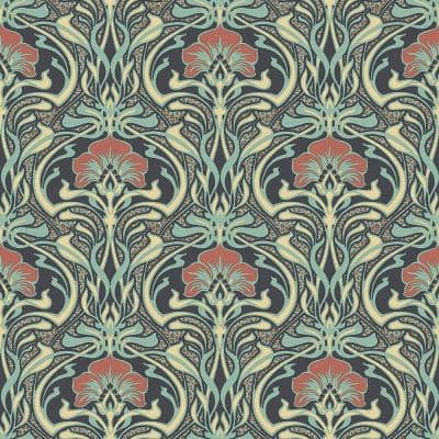 Donovan Moss Nouveau Floral Peelable Roll (Covers 56.4 sq. ft.)