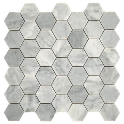 Restore Mist Honed 12 in. x 12 in. Marble Mosaic Tile (0.97 sq. ft./ piece)