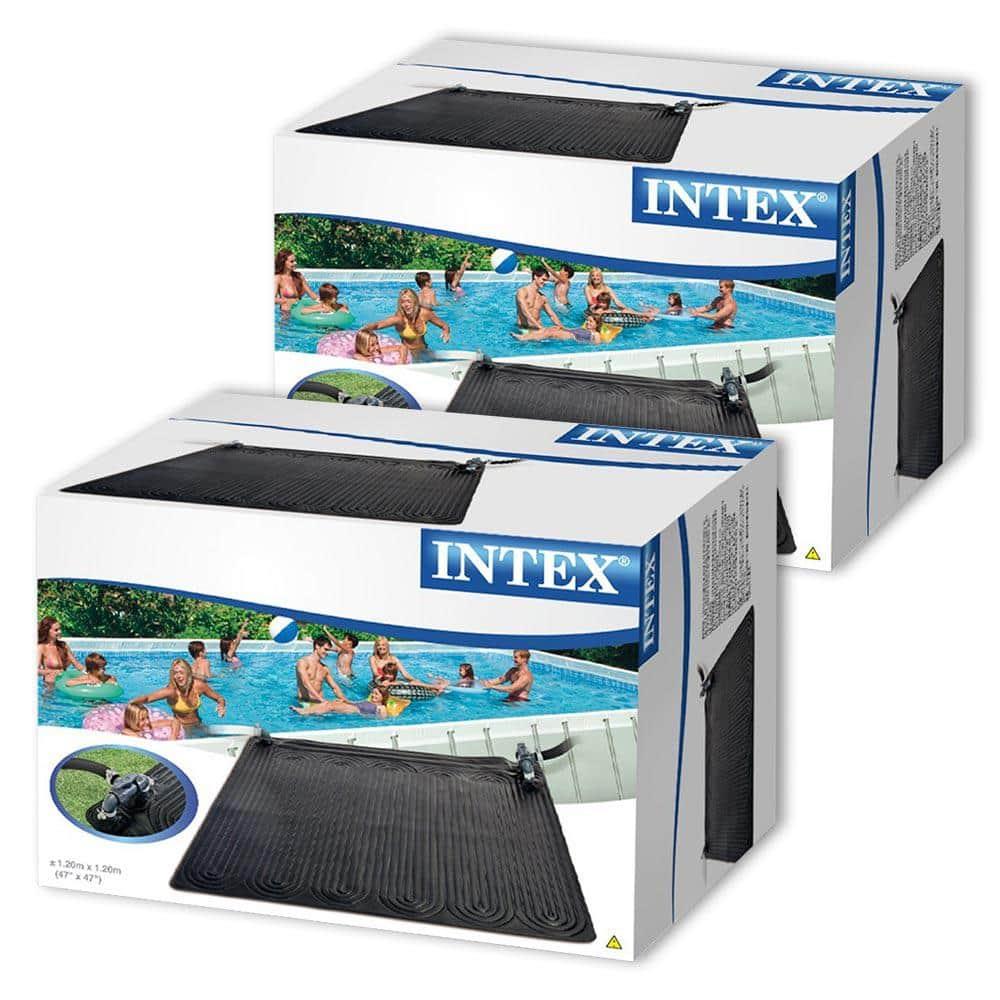 Intex Solar Mat Above Ground Solar Heater 2 Pack 28685e 02 The Home Depot