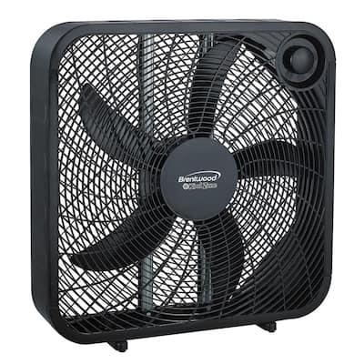 20 in. Black Box Fan