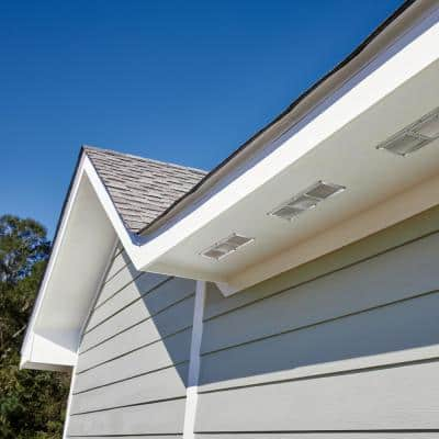 16 in. x 4 in. Aluminum Under Eave Soffit Vent in Mill
