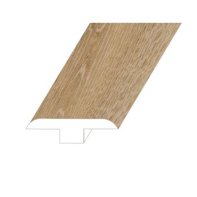 Romulus Concept Oak 0.5 in. T x 1.8 in. W x 94.5 in. L Vinyl T-Molding Molding