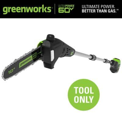 PRO 10 in. 60V Battery Cordless Pole Saw (Tool-Only)