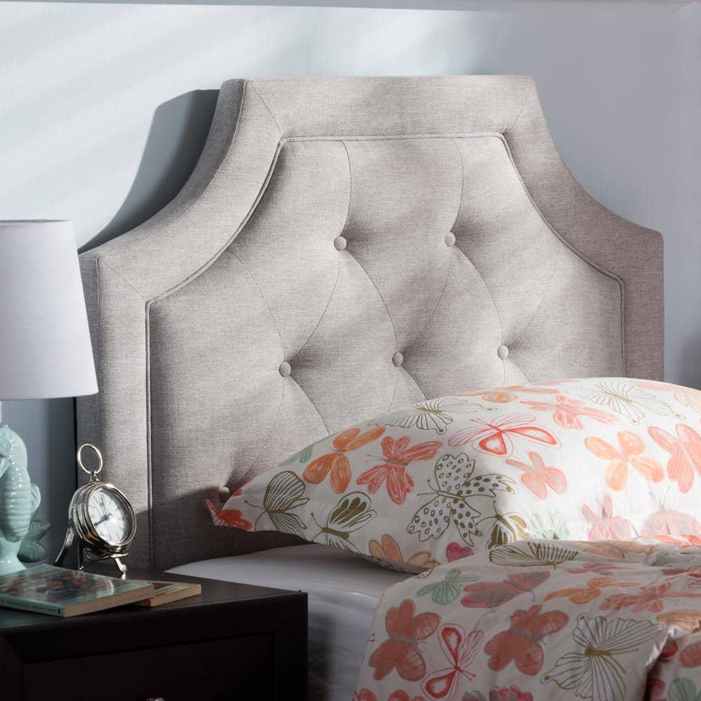 Dorm Room Twin Headboard Grey White and Beige Bohemian Pattern ...