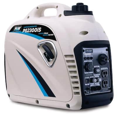 2,300-Watt/1,800-Watt Gasoline Powered Recoil Start Inverter Generator with CARB Compliant 80cc Ducar Engine