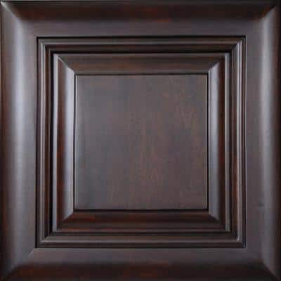 Roxbury 12 3/4 x 12 3/4 in. Cabinet Door Sample in Manganite Glaze