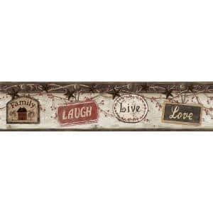Kinsey Black Live Laugh Love Black Wallpaper Border