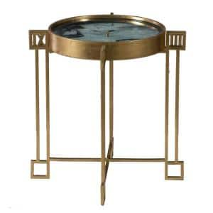 Weathered Gold End Table