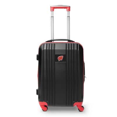 NCAA Wisconsin 21 in. Red Hardcase 2-Tone Luggage Carry-On Spinner Suitcase