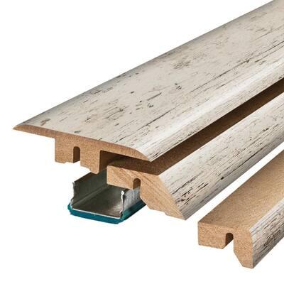 Salted Oak 0.75 in. T x 2.37 in. W x 78.7 in. L Laminate 4-in-1 Molding