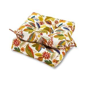 Esprit Floral Square Tufted Outdoor Seat Cushion (2-Set)