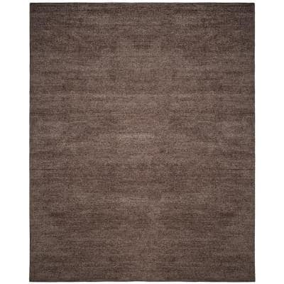 Stone Wash Charcoal 8 ft. x 10 ft. Solid Area Rug