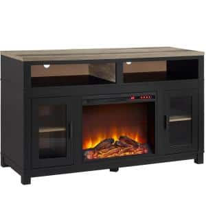 Viola 54.1 in Freestanding Electric Fireplace TV Stand for TVs up to 60 in. W in Black