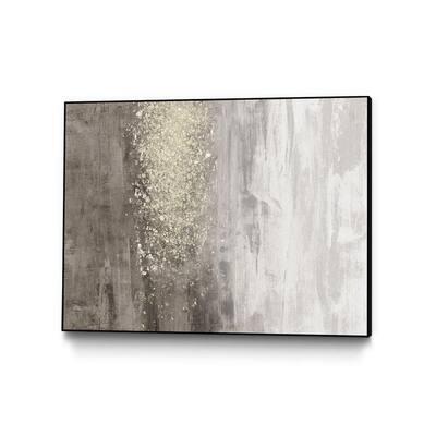 """30 in. x 40 in. """"Glitter Rain II"""" by Jennifer Goldberger Framed Wall Art"""