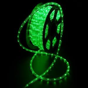Outdoor 100 ft. 110-Volt Plug-In Green Color Changing Light LED Rope Light