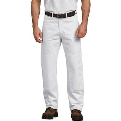 Men's White Painter's Double Knee Utility Pants 42x30