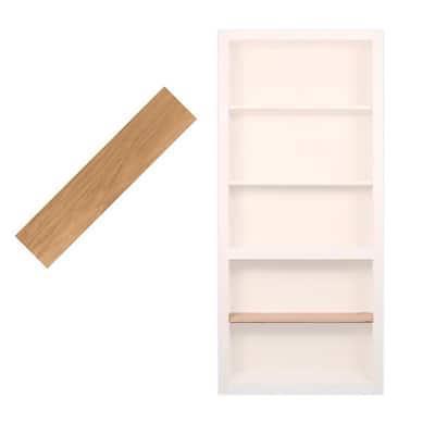 36 in. Red Oak Extra Shelf Accessory for 36 in. Bookcase Door