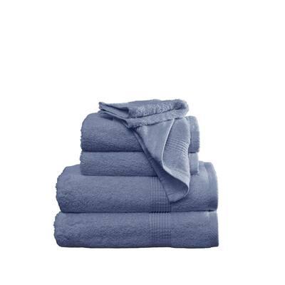 Antimicrobial 6-Piece Blue Towel Set