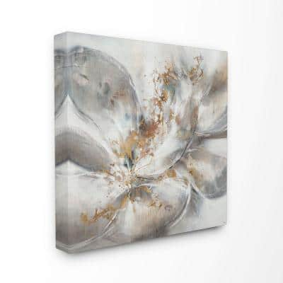 Stupell Industries Abstract Flower Bloom Grey Gold Painting By Third And Wall Canvas Wall Art 24 In X 24 In Asa 142 Cn 24x24 The Home Depot
