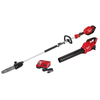 M18 FUEL 18-Volt Lithium-Ion Brushless Cordless 10 in. Pole Saw & Blower Combo Kit w/Charger & 9.0 Ah Battery (2-Tool)