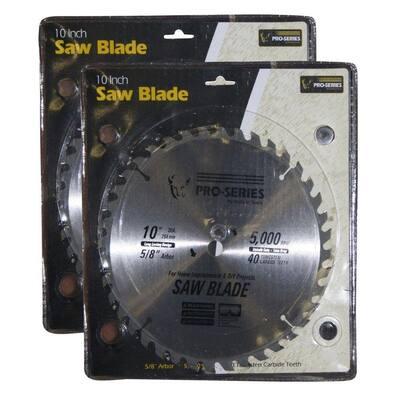10 in. Carbide Tip Saw Blade Set (2-Pack)