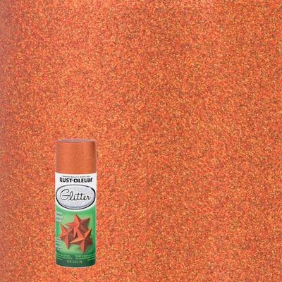 10.25 oz. Harvest Orange Glitter Spray Paint (6-Pack)