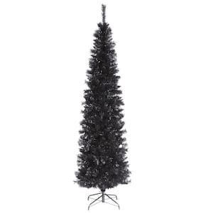 6 ft. Black Tinsel Artificial Christmas Tree