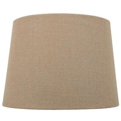 Burlap Lighting The Home Depot, Burlap Lamp Shades For Table Lamps