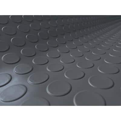 Coin 10 ft. x 24 ft. Slate Grey Commercial Grade Vinyl Garage Flooring Cover and Protector