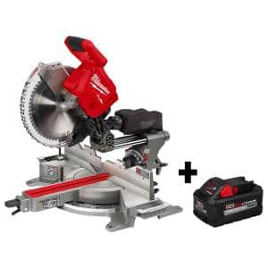 M18 FUEL 18-Volt 12 in. Lithium-Ion Brushless Cordless Dual Bevel Sliding Compound Miter Saw with 8.0 Ah Battery