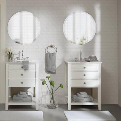 800GSM 8-Piece Silver 100% Cotton Towel Set