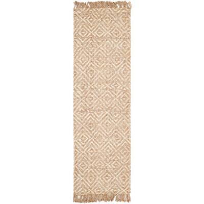Natural Fiber Beige/Ivory 3 ft. x 8 ft. Indoor Runner Rug