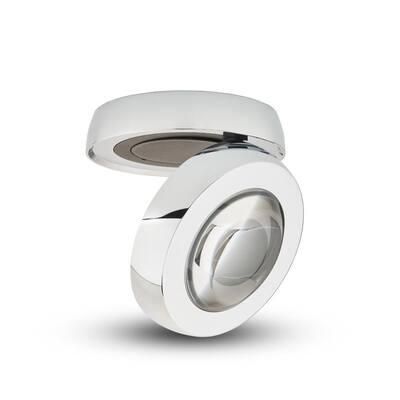 Orbit 5.25 in. 1-Light Chrome Integrated LED Flush Mount