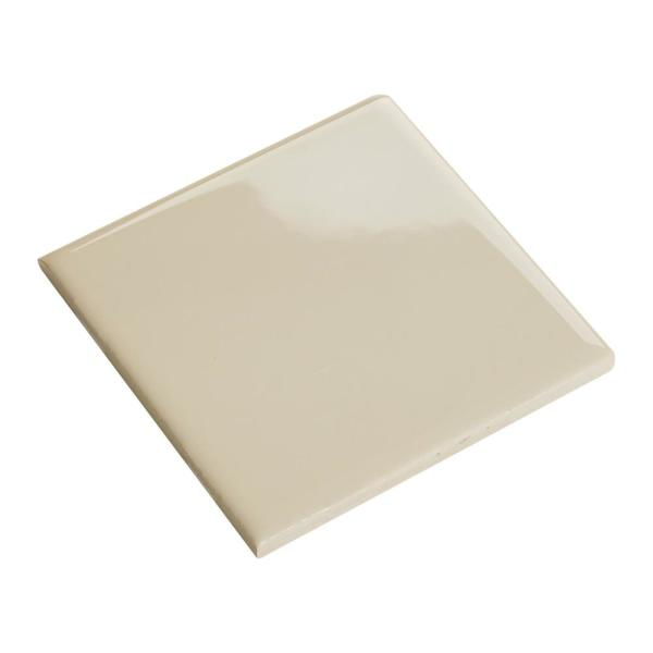 Daltile Semi Gloss Almond 4 1 4 In X 4 1 4 In Ceramic Bullnose Wall Tile 0 125 Sq Ft Piece 0135s44491p1 The Home Depot