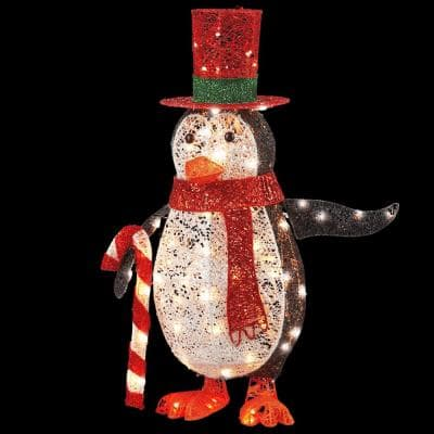 36 in. Penguin with LED Lights