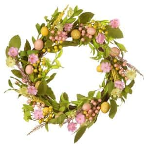 22 in. Decorated Easter Wreath