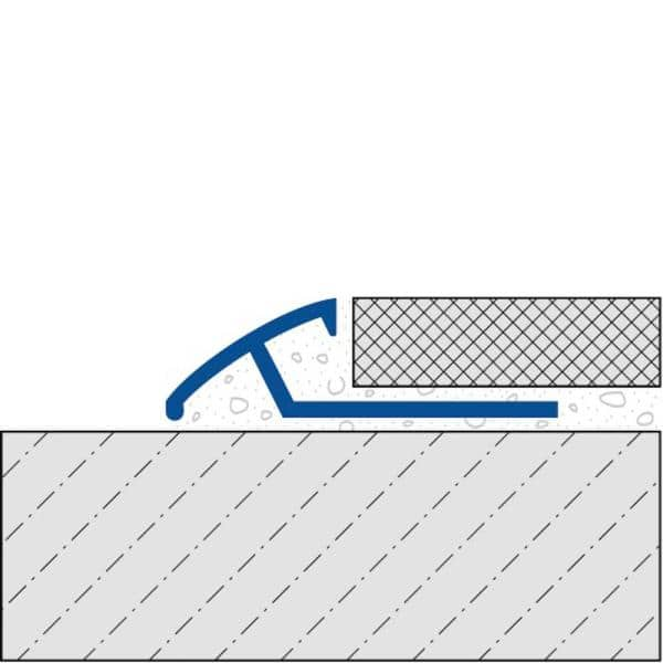 Dural Duratrans Profile 7 16 In X 96 In Anodized Aluminum Silver Tile Edging Trim Dtae 110 The Home Depot