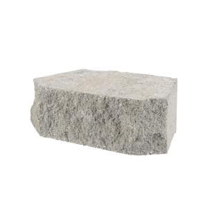 4 in. x 11.75 in. x 6.75 in. Pewter Concrete Retaining Wall Block