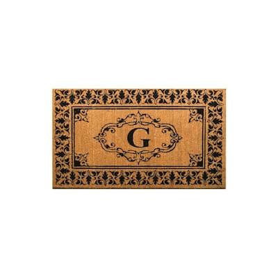 Welcome 30 in. x 48 in. Indoor/Outdoor Monogrammed Letter G Door Mat