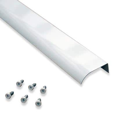 2 in. x 5 ft. White Fascia Mounted Aluminum Water Dispersal Gutter Edge Extension with Screws (5-Pack)